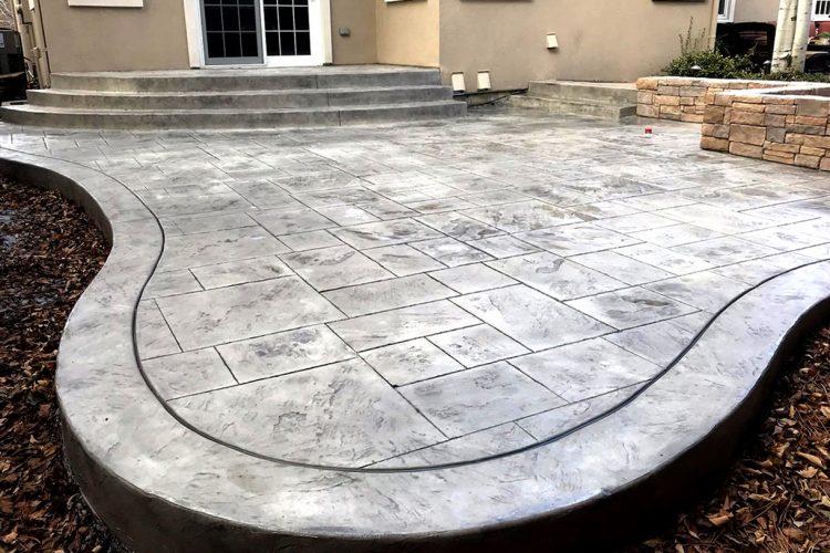 stamped concrete patio designs pictures